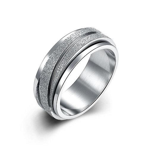 White Swarovski Elements Pav'e Lining Interlocked Band Ring