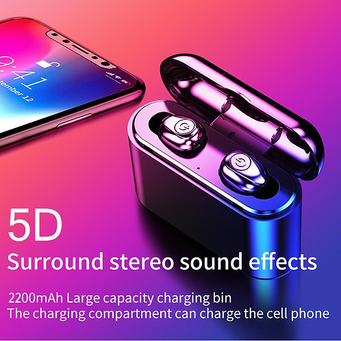 Bluetooth 5.0 Headset TWS Wireless Earphones Mini