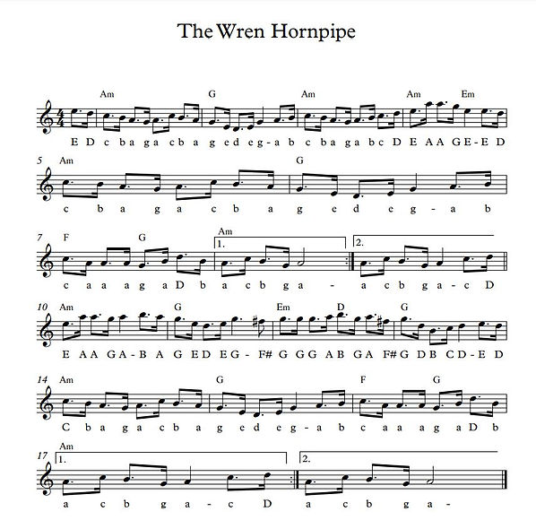 The Wren Hornpipe - Full Score.jpg