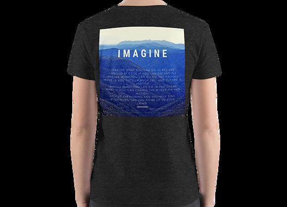 """Imagine"" Women's Fashion Deep V-neck Tee"