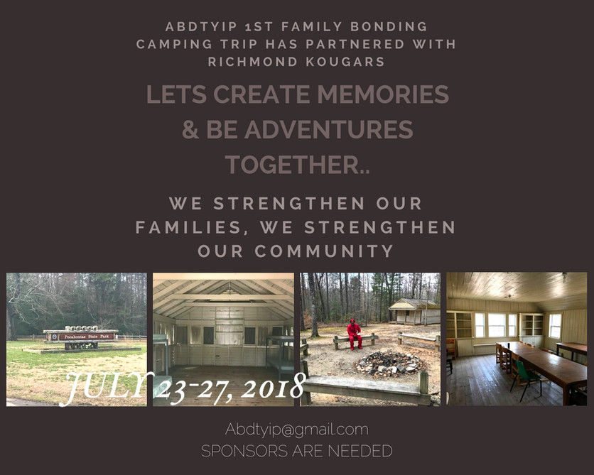 ABDTYIP 1st Family Camping Bonding Trip has Partnered with Richmond Kougars...
