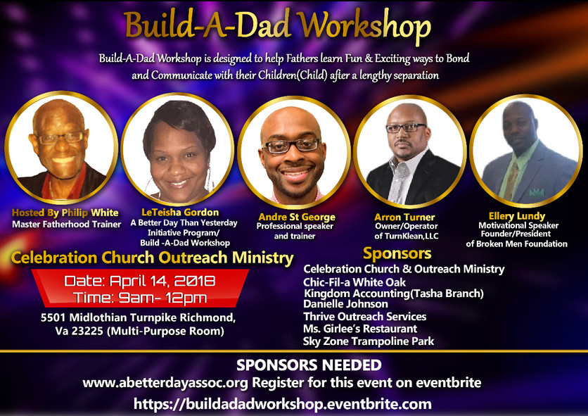 Build-A-Dad Workshop is Today!
