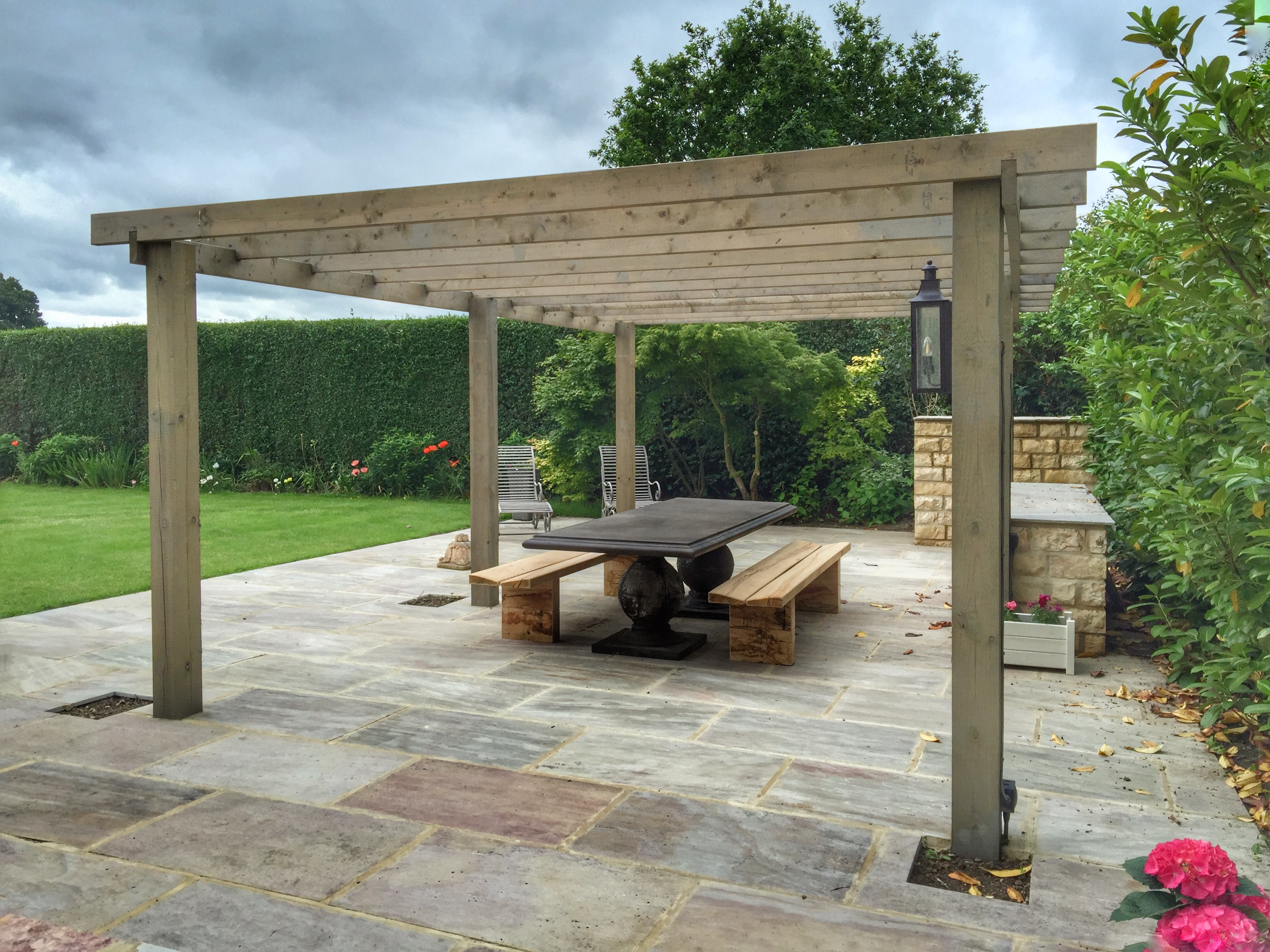 Solid Oak Garden Benches