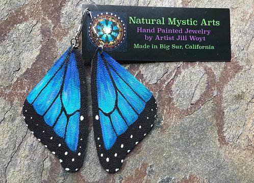 Morpho Blue Butterfly Earrings