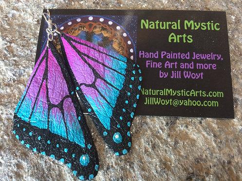 Purple/Blue Butterfly Earrings