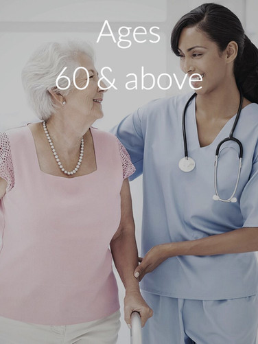 Ages 60 & above
