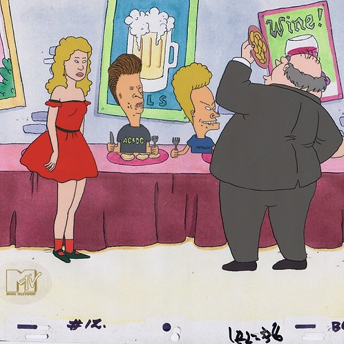 A29. Beavis & Butt-head Prod cel  MTV SEAL COA Red