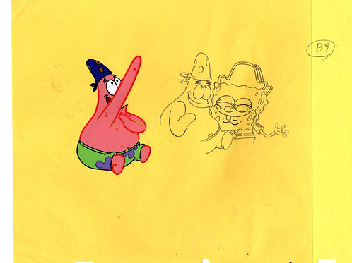 """AHOY THERE ! Prod Cel + DWG of Patrick + SB from """"ARRGH"""" #6847"""