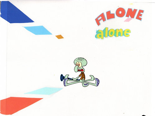 ALONE ! !  Production CEL from SB-129 #8318