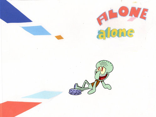 """LAST ONE  """"ALONE""""  ! Production cel #8218 FROM """"SB-129"""""""