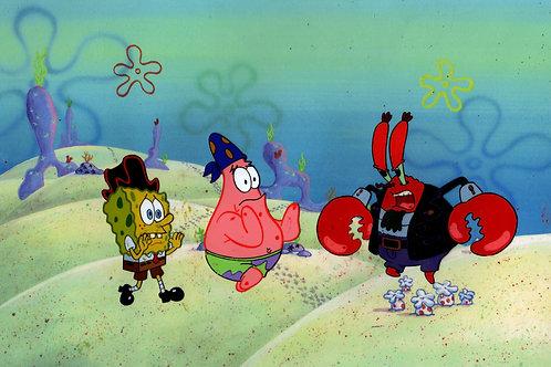 """FABULOUS"" ALL 3 ONLY HERE ! ""THE VERY BEST""! Spongebob Prod CEL ""ARRGH"" #8334"