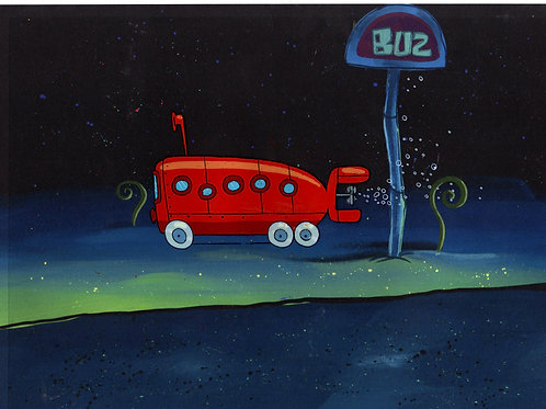 BUS TO GLOVE WORLD  ! Production Cel from ROCK BOTTOM #8203
