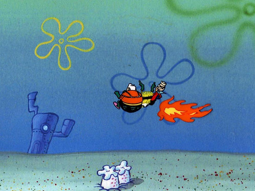 SMALL BUT GREAT IMAGE Mermaidman & Barnacleboy Prod Cel #6870