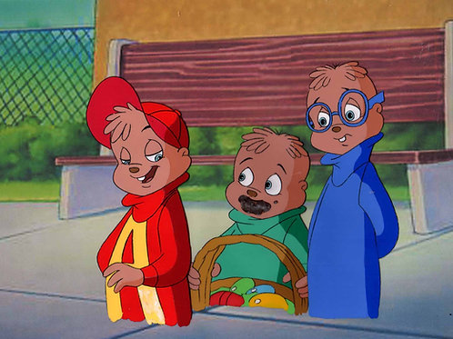A39. ALVIN CHIPMUNKS ALL 3 Prod CEL COPY BG
