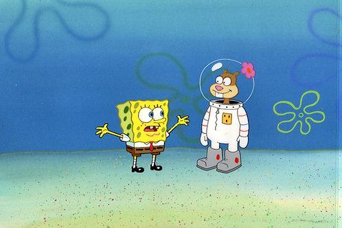 Prod Cel of Sandy and Spongebob #4904