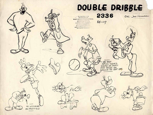 A50. Goofy Print  Model Sheet '46  -Double Dribble