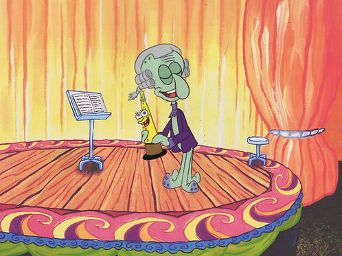 Production cel of SQUIDWARD from SLEEPY TIME #5734