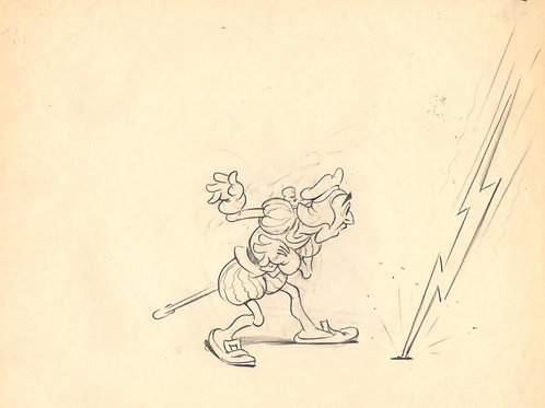 A10. Original  TERRYTOONS Animation Drawing '38