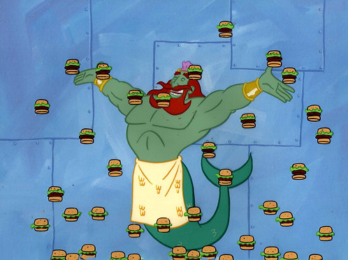 2 KING + HAMBURGERS Production cels from NEPTUNES SPATULA #6247
