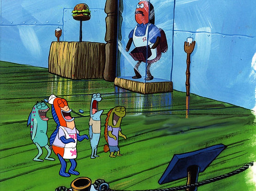 """WOW ! Production Cel from """"NEPTUNES SPATULA"""" #10035"""