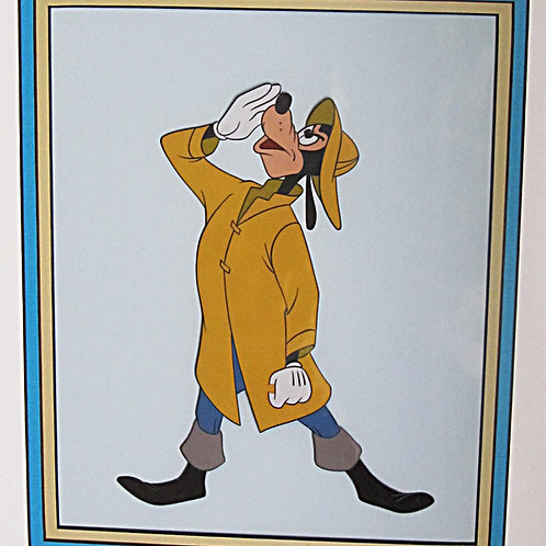 A27A. Disney Goofy Original Prod Cel 1957 FRAMED