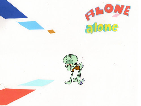 """LAST ONE  """"ALONE""""  ! Production cel #8317 FROM """"SB-129"""""""