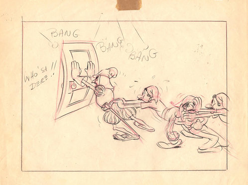 A11. Original TERRYTOONS Animation Drawing '38