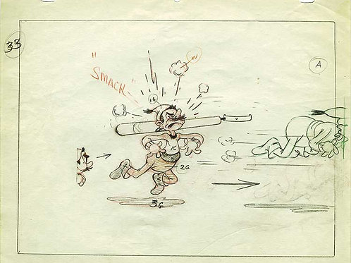 A9. Original TERRYTOONS Animation Drawing '38