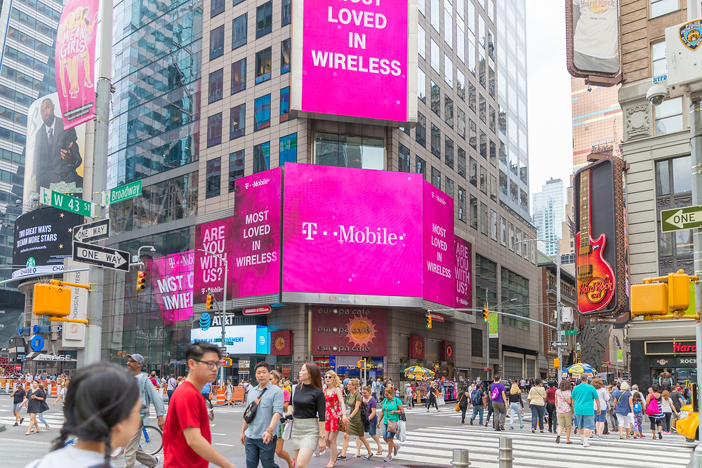 T-Mobile Billboard in Times Square, New York City