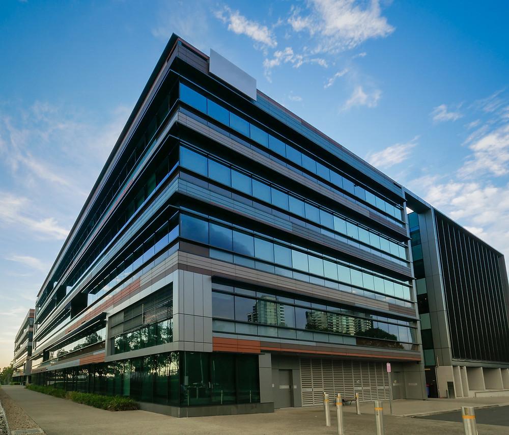A modern office building