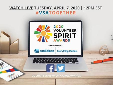 Volunteer Spirit Awards: April 7th at 12:00 Noon ET