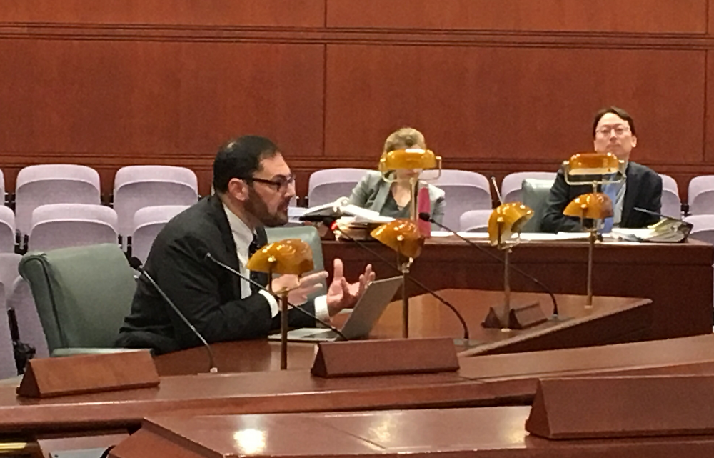 Bob Knight testifies before the Energy and Technology Committee of the Connecticut General Assembly February 26, 2019