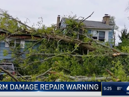 Storm Damage Repair Warning