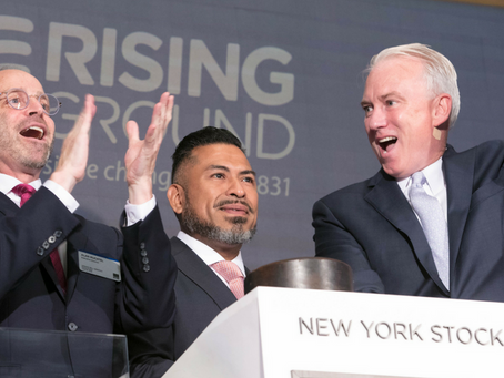 Rising Ground Rings NYSE Opening Bell