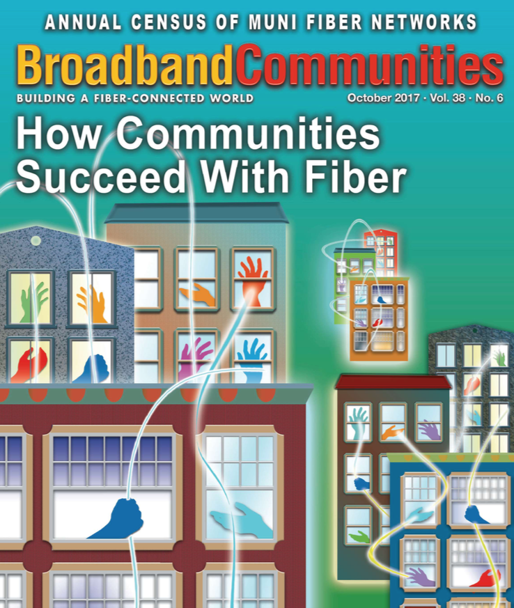 """Engaging the Community"" appears in the October 2017 issue of Broadband Communities Magazine."