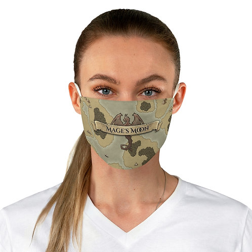 Mage's Moon Dragon Banner Fabric Face Mask