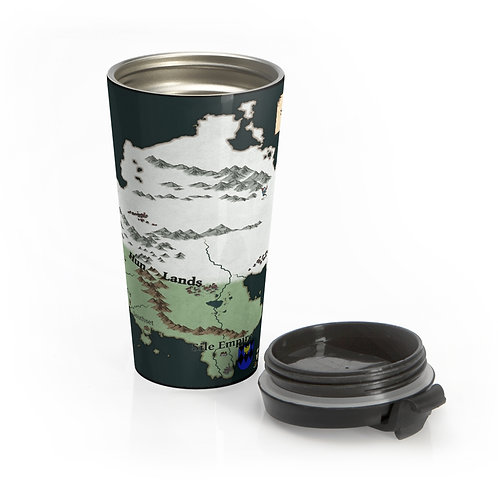 Northlands Map - Stainless Steel Travel Mug