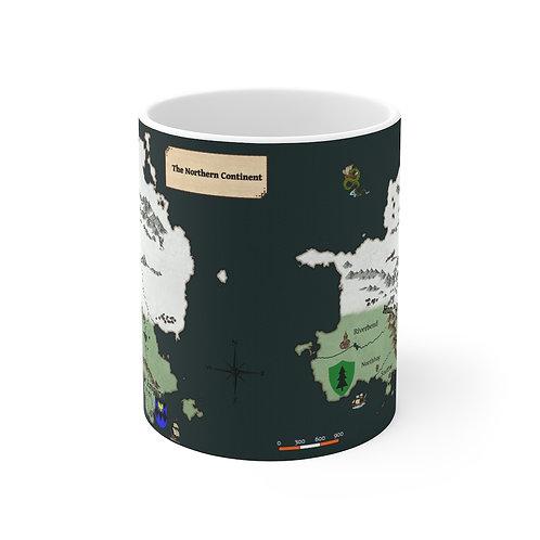 Northlands Map Mug 11oz