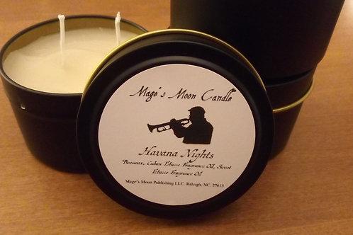Havana Nights Scented Candle Tin