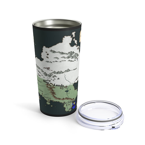 Northern Continent Map Tumbler 20oz