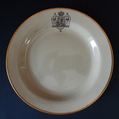 19th C. Wedgwood Armorial Creamware Plate – King Christian VIII of Denmark