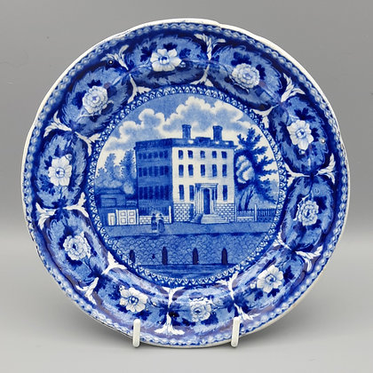 "19th C. Historical Staffordshire Transferware Plate – ""Boston Atheneum"""