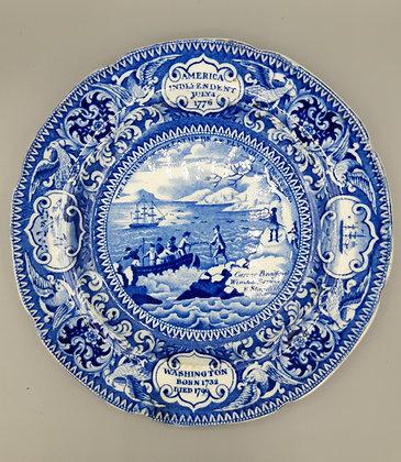 19th C.Transferware Plate – Landing of the Pilgrim Fathers