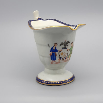 18th C. Chinese Export Helmet Creamer with New York State Arms