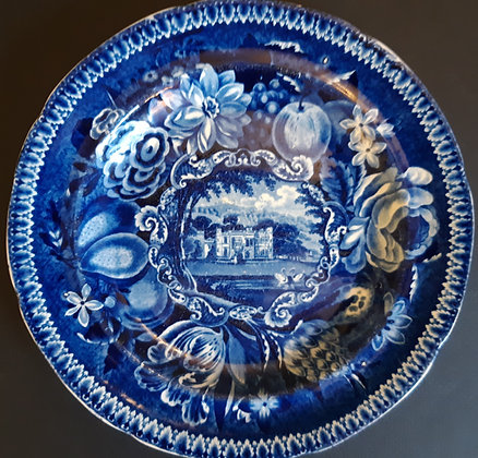 19th C. Staffordshire Transferware Plate - Warleigh House Somersetshi