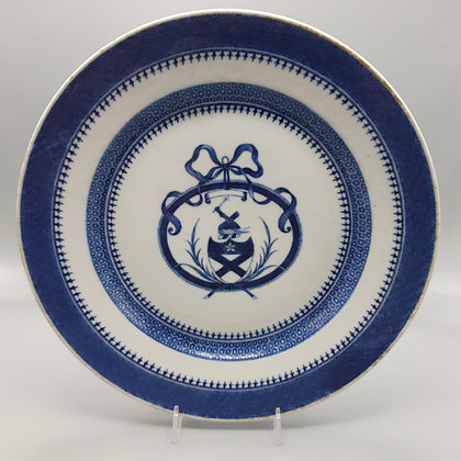 18th Century Chinese Export Blue & White Armorial Plate – Bruce