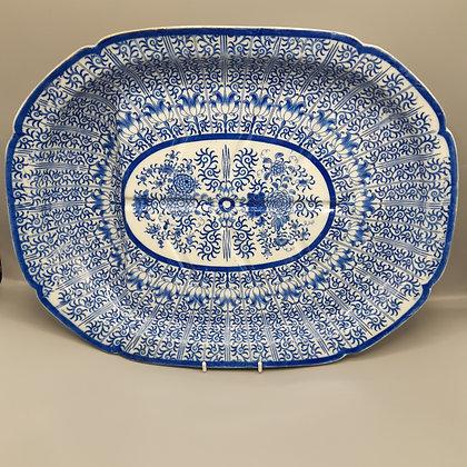 "19th C. Staffordshire Transferware Platter – ""Lily"" Pattern"