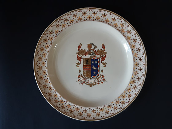 19th C. Wedgwood Armorial Plate - LaTour