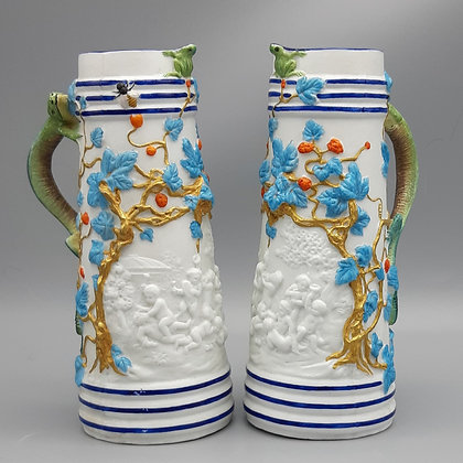 A Pair of George Jones Ornamental Pitchers c. 1870