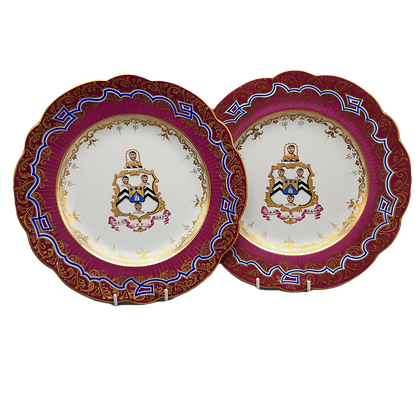 Pair of 19th C Ridgway Porcelain Armorial Plates – Westhead #1